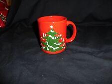 "Waechtersbach German China Christmas Tree Pattern Mug 3 7/8"" High"