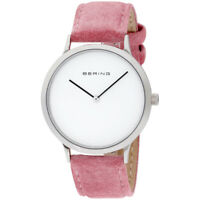 Bering Classic Quartz Movement White Dial Ladies Watch 14937-604