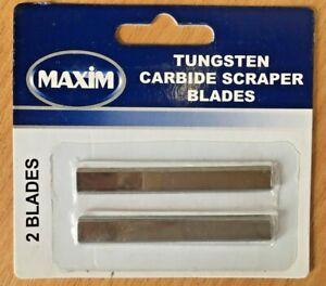 "Tungsten Carbide Scraper Blades 2.5""/65mm (2 Pack) fits Harris/Axus/ProDec tools"