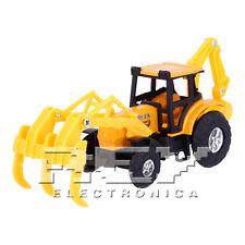 Retroexcavadora con Rastrillo Articulada Naranja Colección Vehículo Rural j236