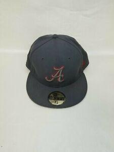NCAA Alabama Crimson Tide College 59Fifty Crimson 7 5/8 NEW ERA Snapback Gray