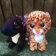 Ty Beanies Patches Leopard & Anora Dragon Soft Toys