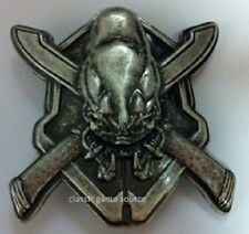 NEW HALO 3 XBOX 360 ODST COVENANT SKULL BADGE BELT BUCKLE METAL HEAVY DUTY
