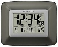 WS-8008U La Crosse Technology Atomic Digital Wall Clock with Indoor Temperature