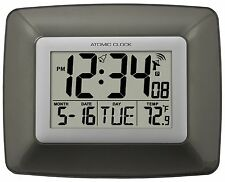 WS-8008U La Crosse Technology Atomic Digital Wall Clock with Indoor Temperature