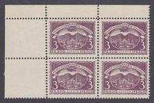 Colombia Sc C34 Mnh. 1921 3p Scadta Sheet Corner Block of 4, Vf