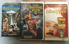 Homeward Bound, Homeward Bound II 2, Mouse Hunt VHS Lot Kid Animal Movies