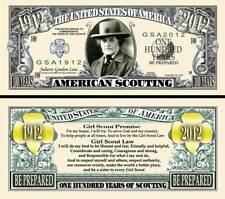 American Girl Scout Million Dollar Collectible Fake Funny Money Novelty Note