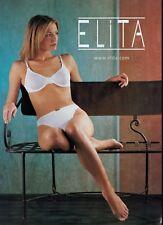 2000 ELITA   Lingerie Bra & Panty  Collection Magazine Print Ad