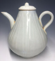 Antique Southern Song Chinese Qingbai Lotus Porcelain Ewer with Lid Cover