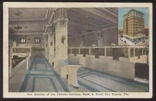 Postcard Tampa Florida/Fl Citizens-American Bank Interior view 1910's
