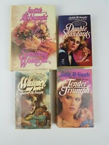 Judith Mcnaught Book Lot of 4 Paperback Hardcover Double Standards Whitney My