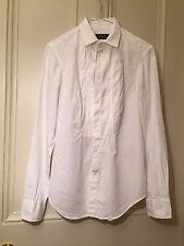 Polo Auténtico Ralph Lauren para Mujer de Blusa inteligente de algodón blanco tamaño UK4