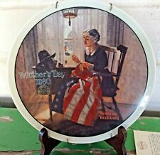 "Norman Rockwell ""A Mother's Pride"" Collector Plate Numbered Display Mnt Knowles"
