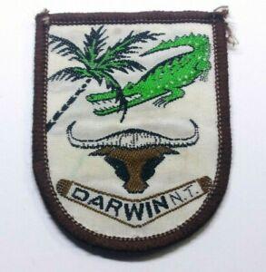 VINTAGE SOUVENIR TOURIST PATCH / BADGE DARWIN NT