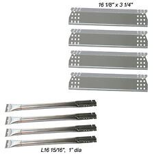 Replacement 4-pack SS Burner & SS Heat Plate for Kitchen Aid 720-0733A gas Grill