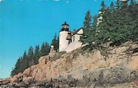 Postcard Bass Harbor Light Mt. Desert Island Maine