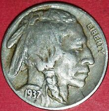 1937 Philadelphia Mint Buffalo Nickel   ID #13-97