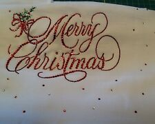 Merry Christmas, Celebrate, Tablecloths or Runners Created in Crystals CUSTOM