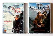 Disney White Fang and White Fang Two Myth of White Wolf 2 Movies Together on DVD