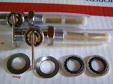 """Norton ,Triumph, late BSA Petcocks , fuel taps  BSP thread, 1/2"""" OD   **stk# 001"""