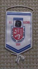1984 Czechoslovakia Boxing Title Fight Usti nad Labem Glove Lion Pennant Flag