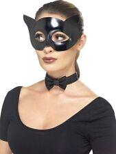 Maschere nero per carnevale e teatro, PVC