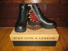 """RARE NEW HARLEY DAVIDSON sz 9M black 5"""" ankle boots with flame design"""
