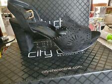 City Chic Wide Fit Heel Quella Size 11/42
