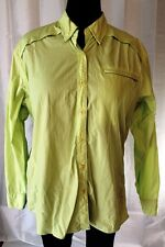 Lime Green Fishing Shirt Long Sleeve Women's XL World wide Sportsman