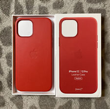 Apple iPhone 12/12 Pro Leather Case with MagSafe (PRODUCT)RED - Genuine