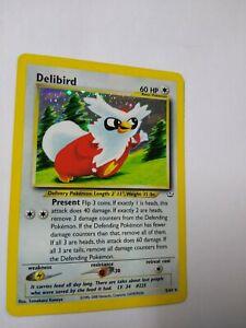 Delibird Holo Rare Pokemon Card Neo Revelation 5/64 NM Condition