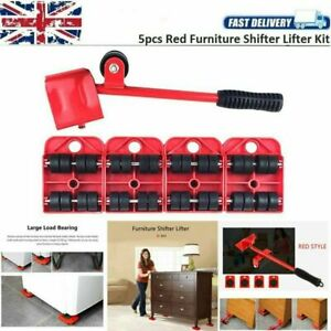 5pcs Heavy Duty Furniture Lifter Transport Tool Sofa Bed Mover Set Wheels Moving
