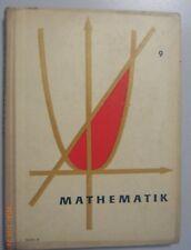 Mathematik 9. Klasse, DDR Lehrbuch, Volk und Wissen 1962,