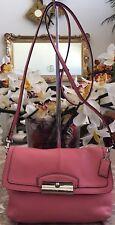 Coach Kristin Leather Flap Cross-body Handbag F48986 SV/Rose EUC! MSRP $168