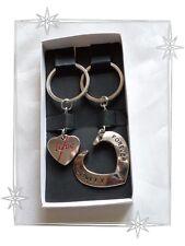Lot de 2 Porte clef Amoureux Duo St Valentin Coeurs