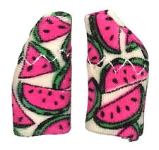 Protective Hearing Aid COVERS for protection 2 sides MINI sz. H.A.'s .WATERMELON
