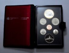 1981 CANADA PROOF LIKE 7 COIN  UNC SET IN HARD PLASTIC CASE