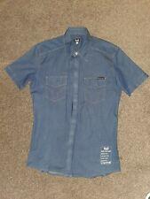 D&G Mens shirt denim short sleeved / M / L