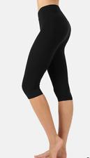 Zenana  Outfitters Premium Stretch Cotton Capri Leggings 1X Black