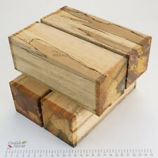 4 Punky Spalted Beech wood turning spindle blanks. 73 x 73 x 205mm. 5191A