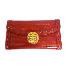 METROCITY RED PATENT LEATHER STUDDED WALLET
