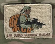 KANDAHAR WHACKER© JSOC ELITE 5TH SFG ODA SAS hook/loop SSI: M249 LMG SAW GUNNER