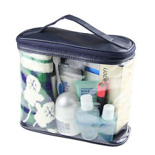 Clear Case Cosmetic Make up Bag Hanging Toiletry Travel ZIPPER Organizer
