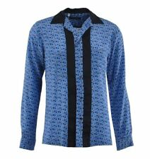Silk Long Sleeve Collared Casual Shirts & Tops for Men