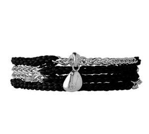 Links of London sterling silver triple wrap stacking bracelet RRP £295