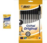 Bic crystal original 10 pack ballpoint pens 1.0 mm nib choose from blue or black