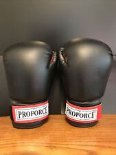 ProForce 12oz Ounce Boxing Martial Arts Sparing Gloves Black / Red Palm # 8012