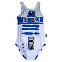 Disney Store R2-D2 Girl's Swimsuit Star Wars Swimwear One Piece Suit Droid NEW
