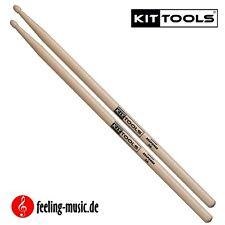 2 Paar KitTools-Drumsticks Hickory-5A - KIR5A (30% günstiger)
